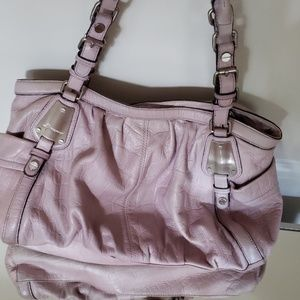 B. Makowsky purple leather bag